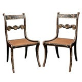 Pair English regency Side Chairs