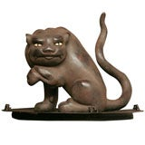 Japanese tiger carved from very heavy wood.