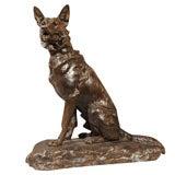 Bronze German Shepherd by Louis Riche