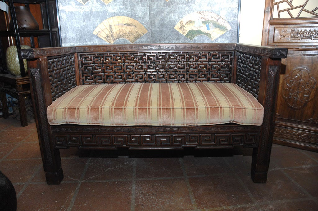 Chinese Shanghai Settee For Sale