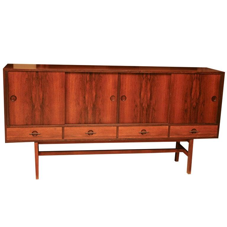 Danish Modern Rosewood Sideboard by Lovig