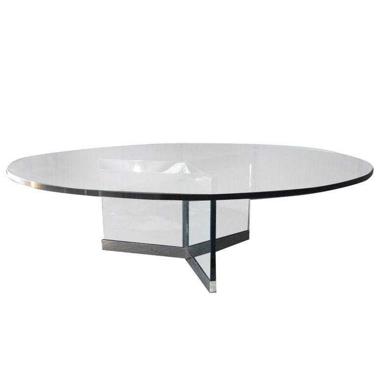 Italian Glass Coffee Table At 1stdibs