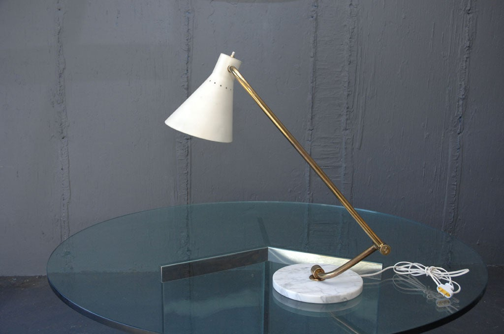Italian Articulated Table Lamp  In Excellent Condition For Sale In Sag Harbor, NY