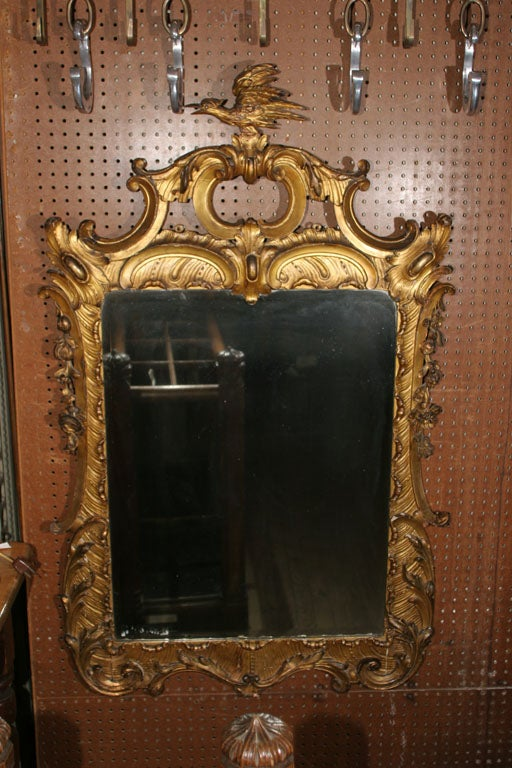 18th century chinoiserie style gilded mirror.