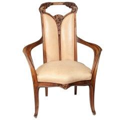 Pair of Louis Majorelle Arm Chairs