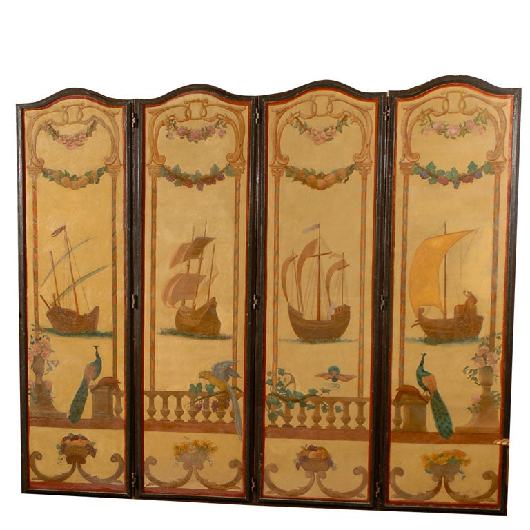 Four Paneled French Screen