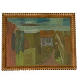 Hungarian Landscape by Tibold Nagy, Framed Oil on Board