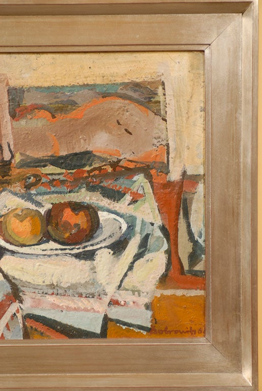 20th Century Hungarian Still Life, Ferenc Dobrints, Framed Oil on Canvas For Sale