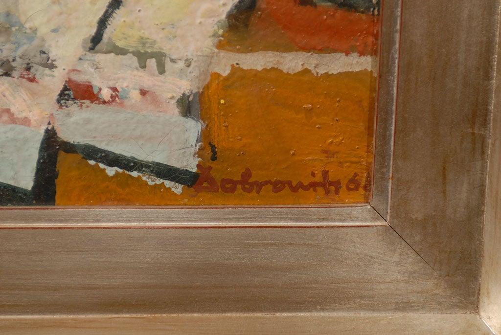 Hungarian Still Life, Ferenc Dobrints, Framed Oil on Canvas For Sale 2