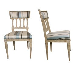 A Pair of Signed Swedish Gustavian Side Chairs