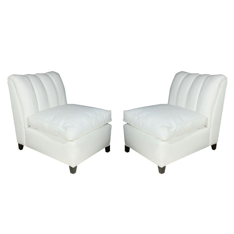 PAIR Hollywood Regency Channel Back Chairs