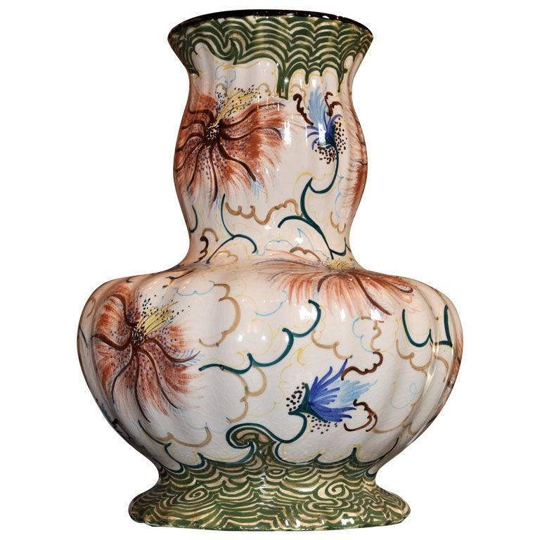 1930s Signed Gouda Vase For Sale At 1stdibs