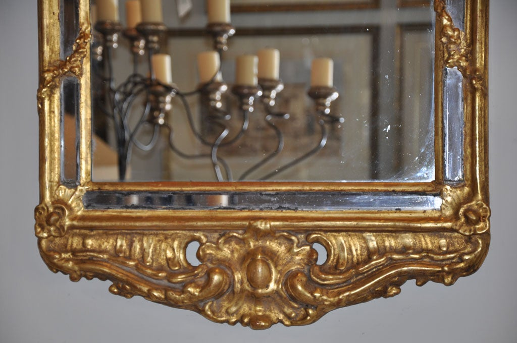 19th Century Swedish Rococo Giltwood Mirror For Sale 1