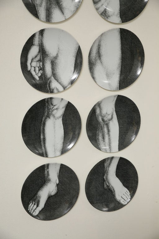 Adam & Eve Plates by Piero Fornasetti 1