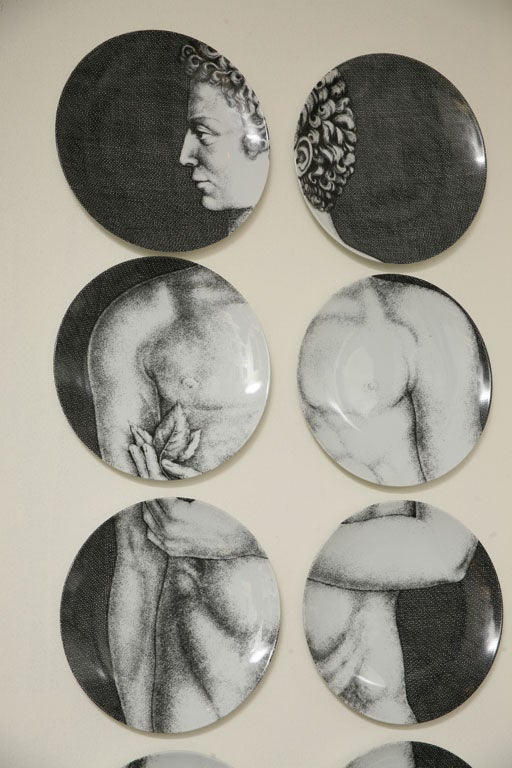 Adam & Eve Plates by Piero Fornasetti 2