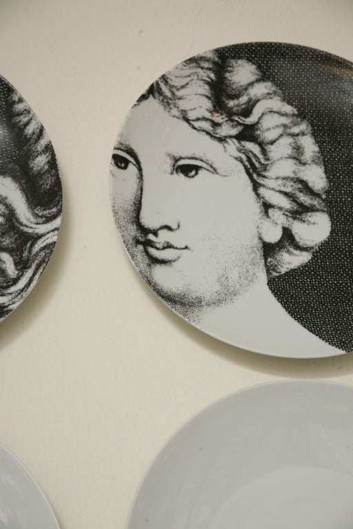 Adam & Eve Plates by Piero Fornasetti 3