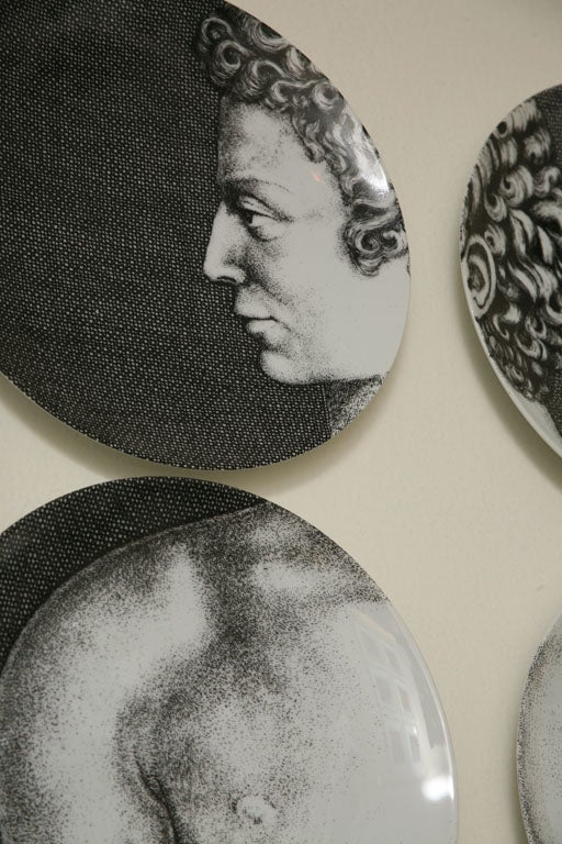Adam & Eve Plates by Piero Fornasetti 4