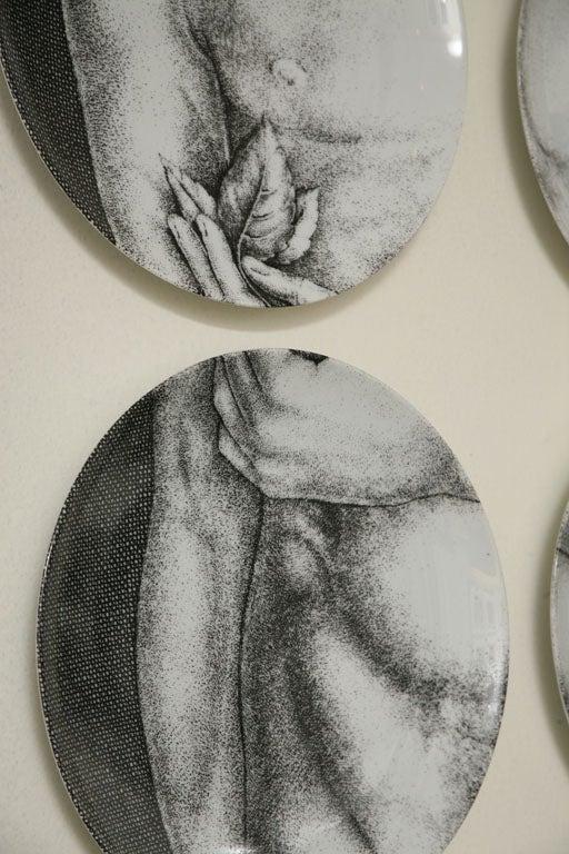 Adam & Eve Plates by Piero Fornasetti 6
