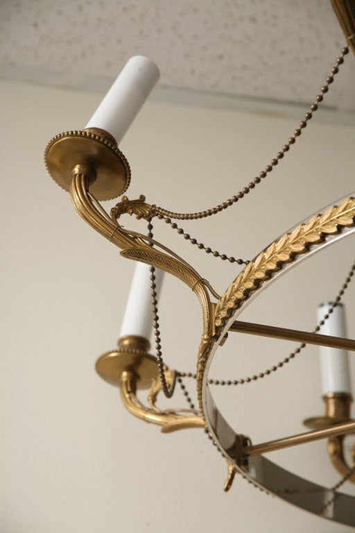 Fabulose Eight Light Chandelier By Maison Charels At 1stdibs