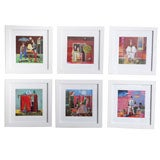 Set of 12 Framed Colorful Lithographs by Luigi Rincicotti