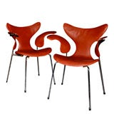 RARE SET OF 8 SEAGULL CHAIRS BY ARNE JACOBSEN