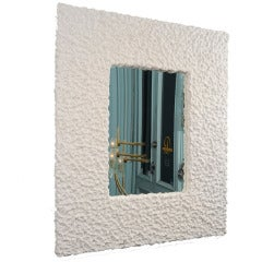 """Neve"" Plaster Wall Mirror by Alexandre Logé"