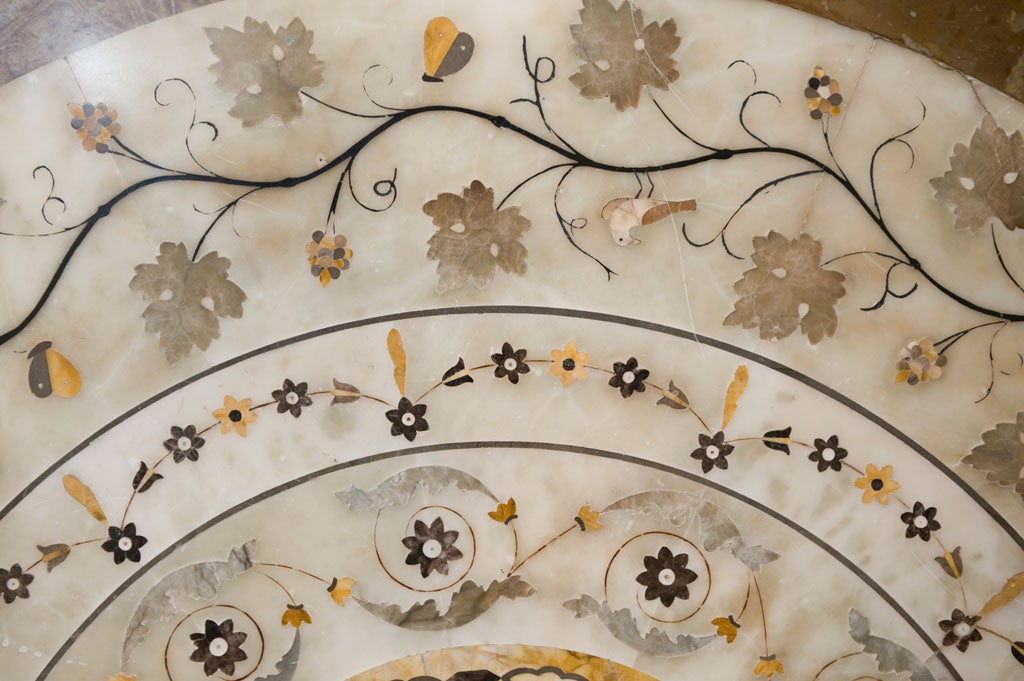 Marble Stone Inlay Art Work Table Top At 1stdibs