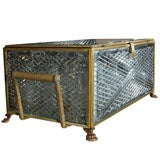 19th Century Antique Bronze Louis XV Style Liquor Casket Attributed to Baccarat