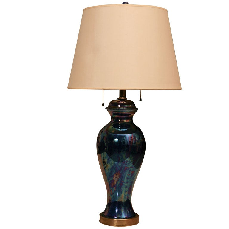 a luminous cobalt blue glass lamp at 1stdibs. Black Bedroom Furniture Sets. Home Design Ideas