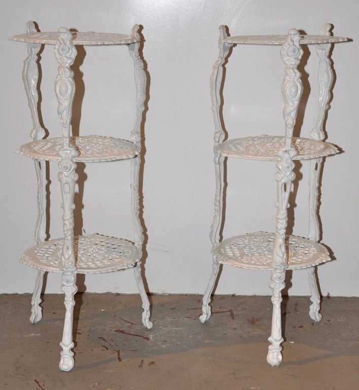 French three tiered iron plant stand at 1stdibs - Tiered metal plant stand ...