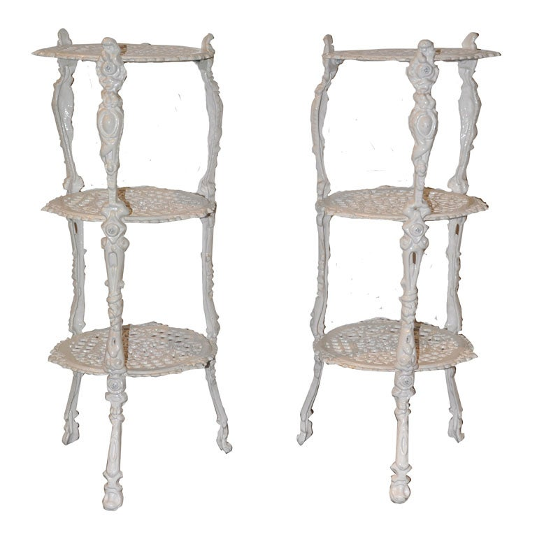 - Tiered metal plant stand ...