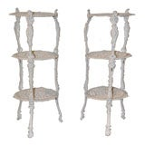 French Three-Tiered Iron Plant Stand