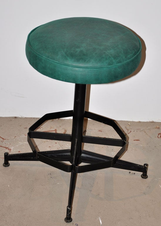 Pair of Steel Swivel Stools image 5