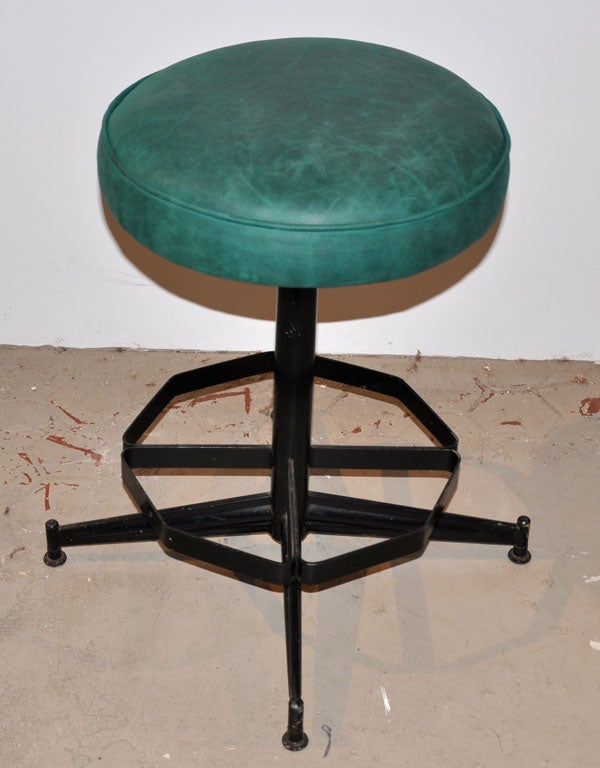 Pair of Steel Swivel Stools image 6
