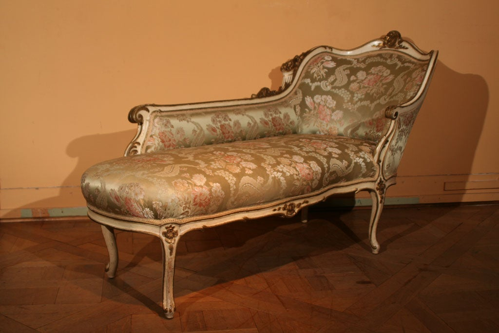 Louis xv style chaise longue 19th century at 1stdibs for Chaise louis xv