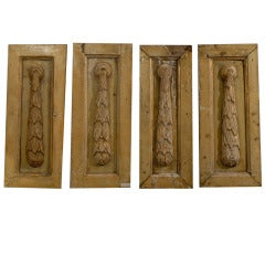 Set Of Four Carved Panels