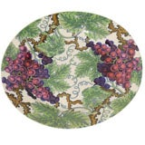 A Set of Eight Spode Dessert Plates with Grapevines and Purple Grapes