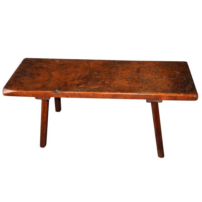 Rustic Bench Low Table At 1stdibs
