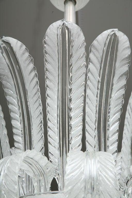 Mid-20th Century Art Deco Murano  Glass Chandelier