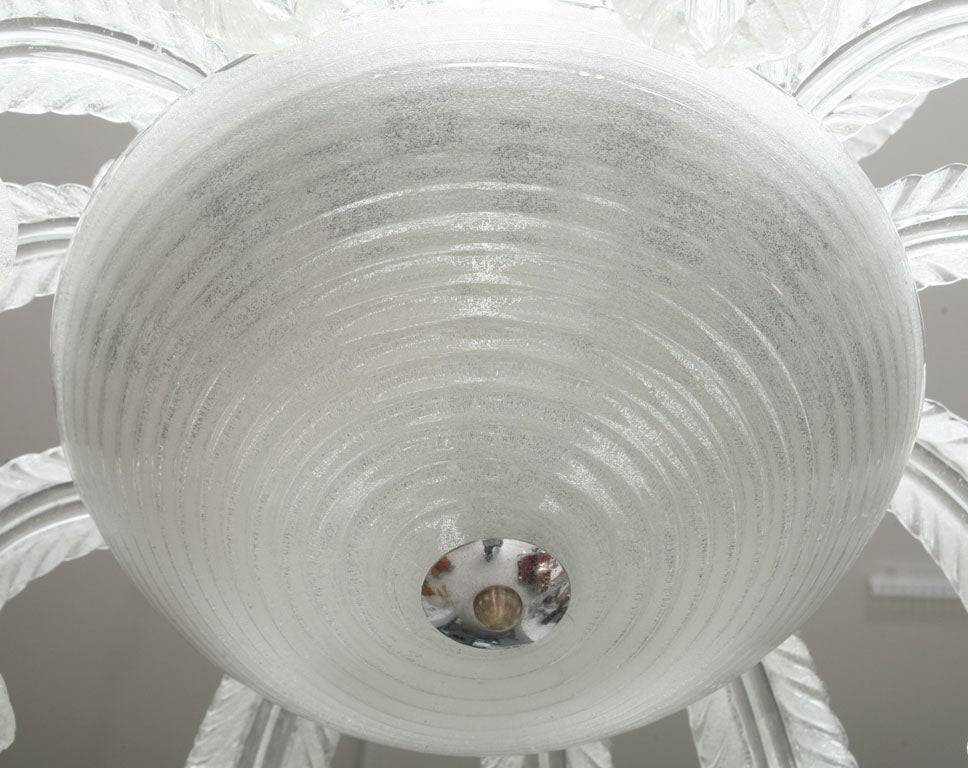 Art Deco Murano  Glass Chandelier 4