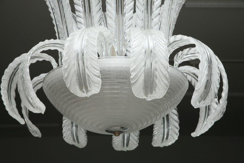 Art Deco Murano  Glass Chandelier 6