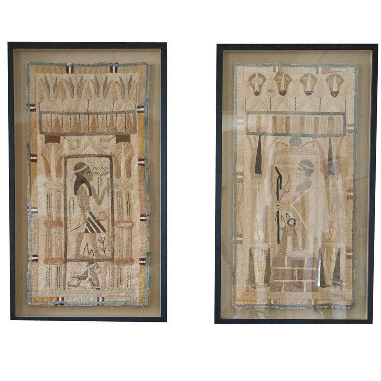 Antique Egyptian Applique Panels