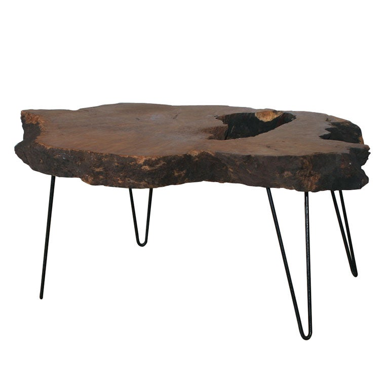 Xjpg for Wood coffee table with iron legs