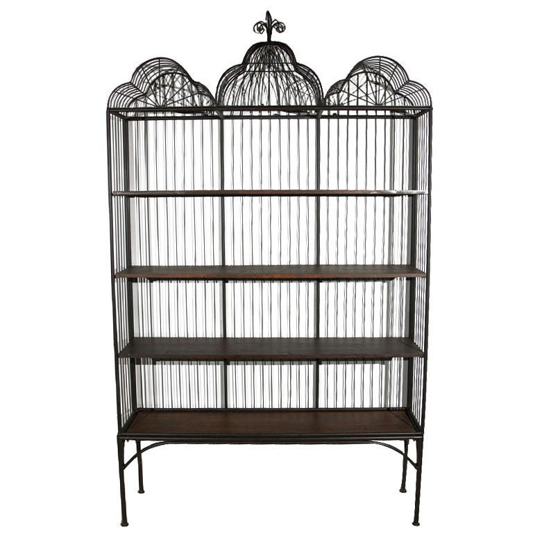 metal etagere bookcase at 1stdibs. Black Bedroom Furniture Sets. Home Design Ideas