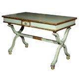 Maison Jansen Green Painted Center Table / Desk