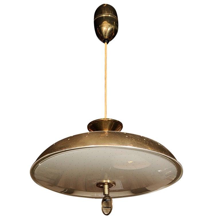 Lightolier Adjustable Height Brass Light Fixture At 1stdibs