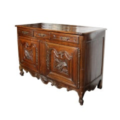 French Carved Cherry Buffet