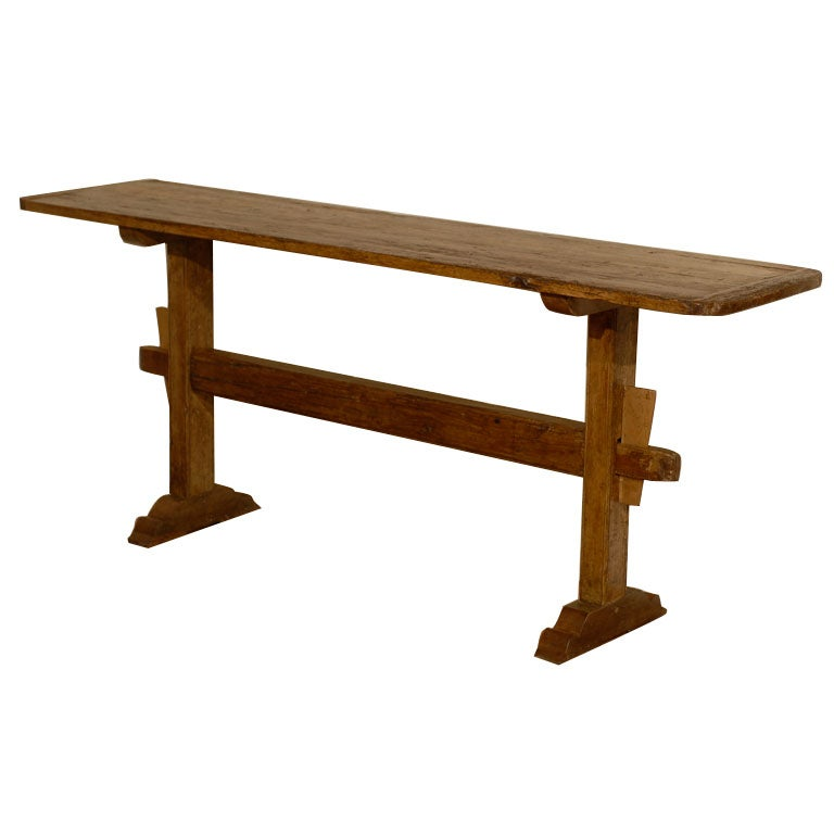 C1850s English Pine Trestle Table at 1stdibs : x from www.1stdibs.com size 768 x 768 jpeg 30kB