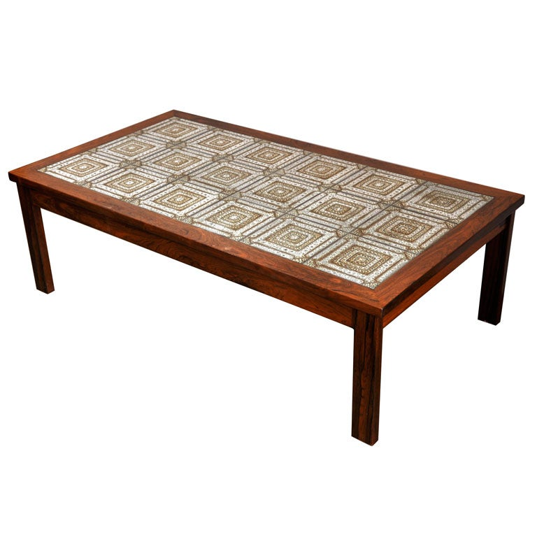 Mosaic coffee table at 1stdibs for Mosaic coffee table designs
