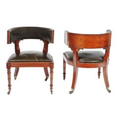 Pair of Regency Library Chairs